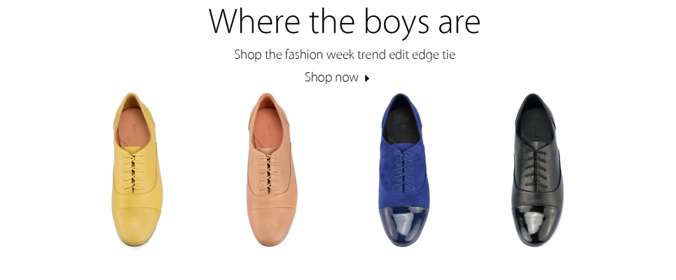 edge Tie Oxford Flats